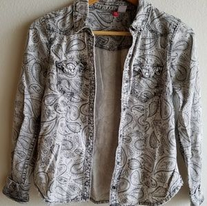 H&M Divided Distressed Paisley Blazer in Small
